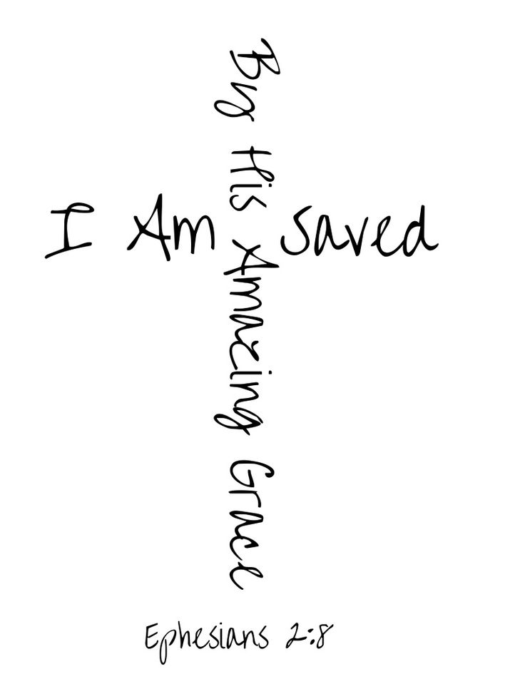 I Am Saved By His Amazing Grace Tshirt design