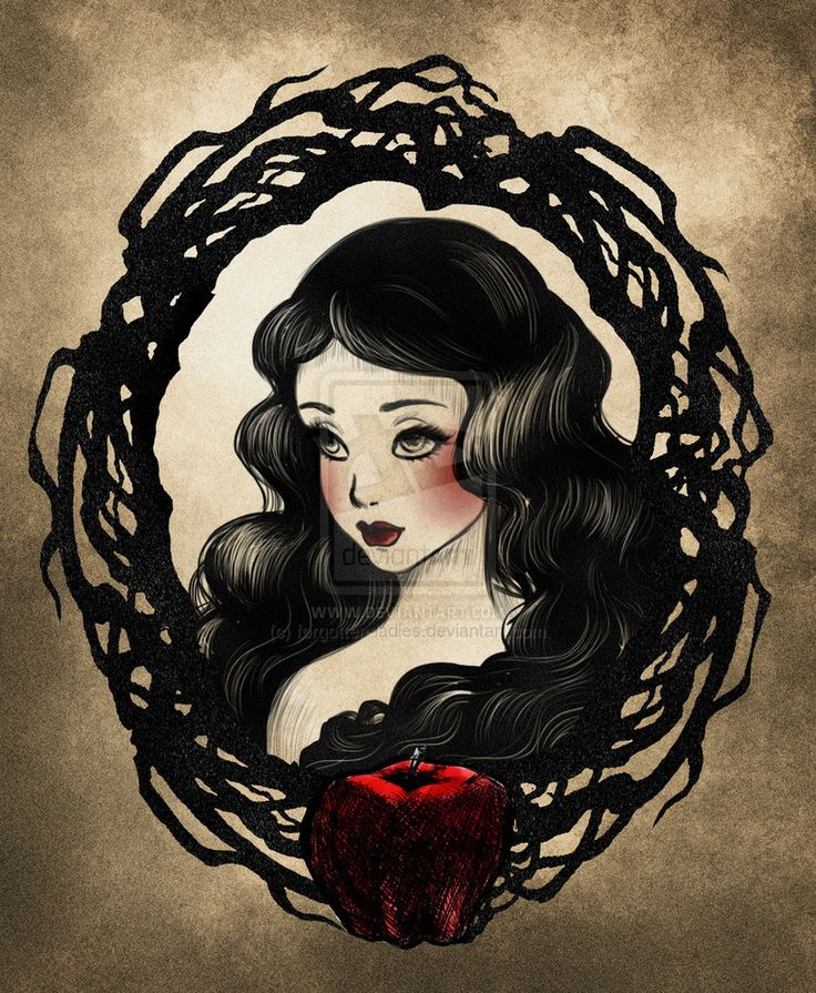 TLCT Snow White by forgotten-ladies on deviantART. Would love to see other Disney princesses in this style