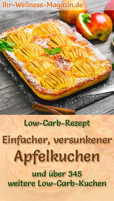 Rezept für einen versunkenen kohlenhydratarmen Apfelkuchen: Der kohlenhydratarme, kalorische …   – Low Carb Kuchen Rezepte