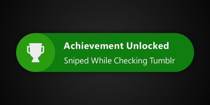 gaming tumblr xbox xbox 360 achievement unlocked xbox one sniper ...