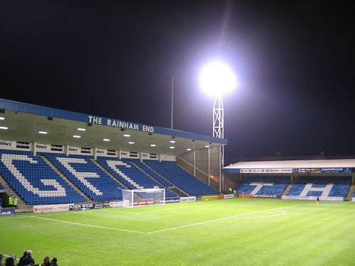 Priestfield, home of my beloved Gillingham FC. Rainham End.