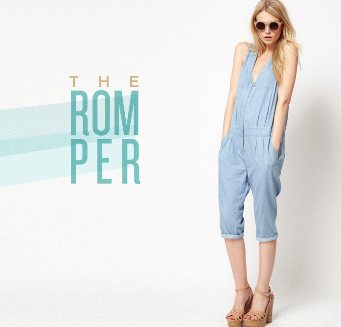 The Romper | The Fresh Exchange: Chambray Denim, Asos Over, Effortless Style, Asos Crop, Jumping Suits, Denim Boilersuit, Ads Style, Chambray Jumpsuits, Crop Chambray