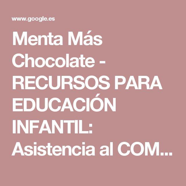 Menta Más Chocolate - RECURSOS PARA EDUCACIÓN INFANTIL: Asistencia al COMEDOR ESCOLAR | Decoración del aula | Pinterest | Comedores escolares, El comedor y Asi…