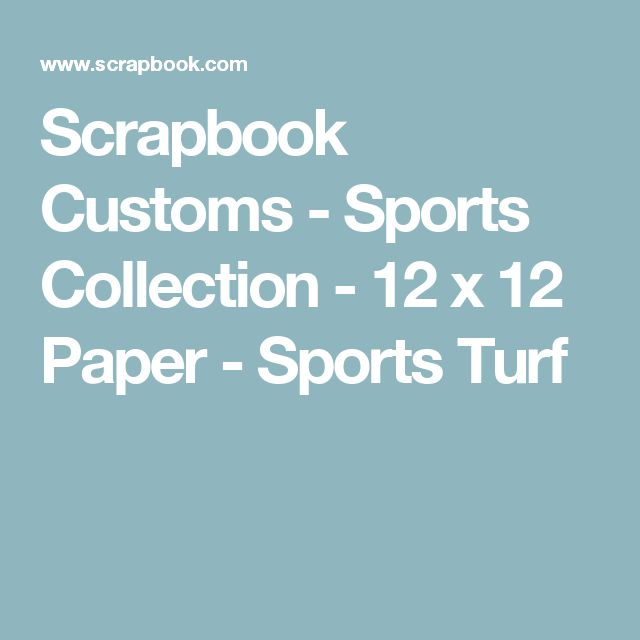 Scrapbook Customs - Sports Collection - 12 x 12 Paper - Sports Turf