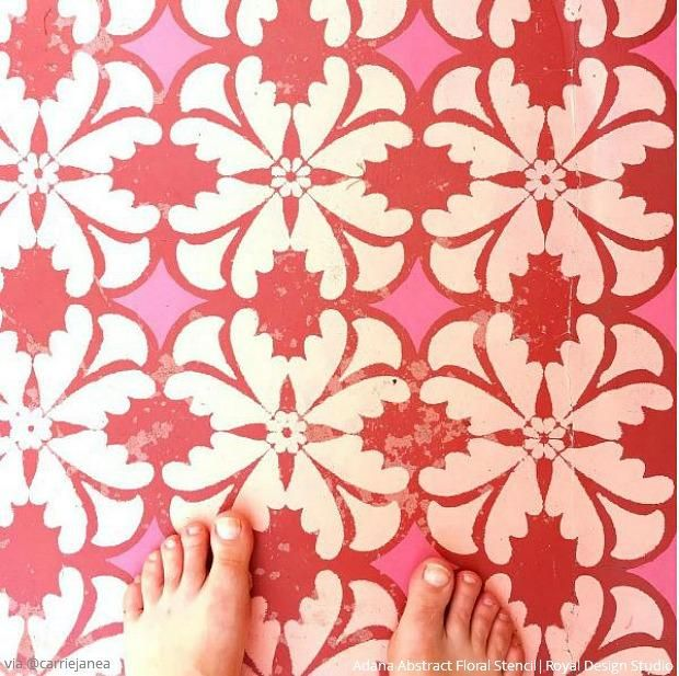 Stencil Your Home Decor & Become an Insta-Inspiration! Check out these PRETTIEST diy projects that we found on Instagram using wall stencils, floor stencils, tile stencils, and furniture stencils from Royal Design Studio!