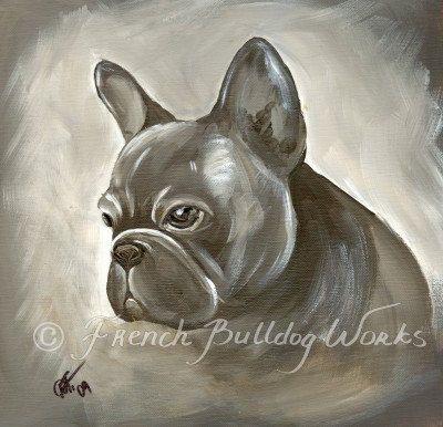 Bouledogue français Bouledogue Francais Art par frenchbulldogworks