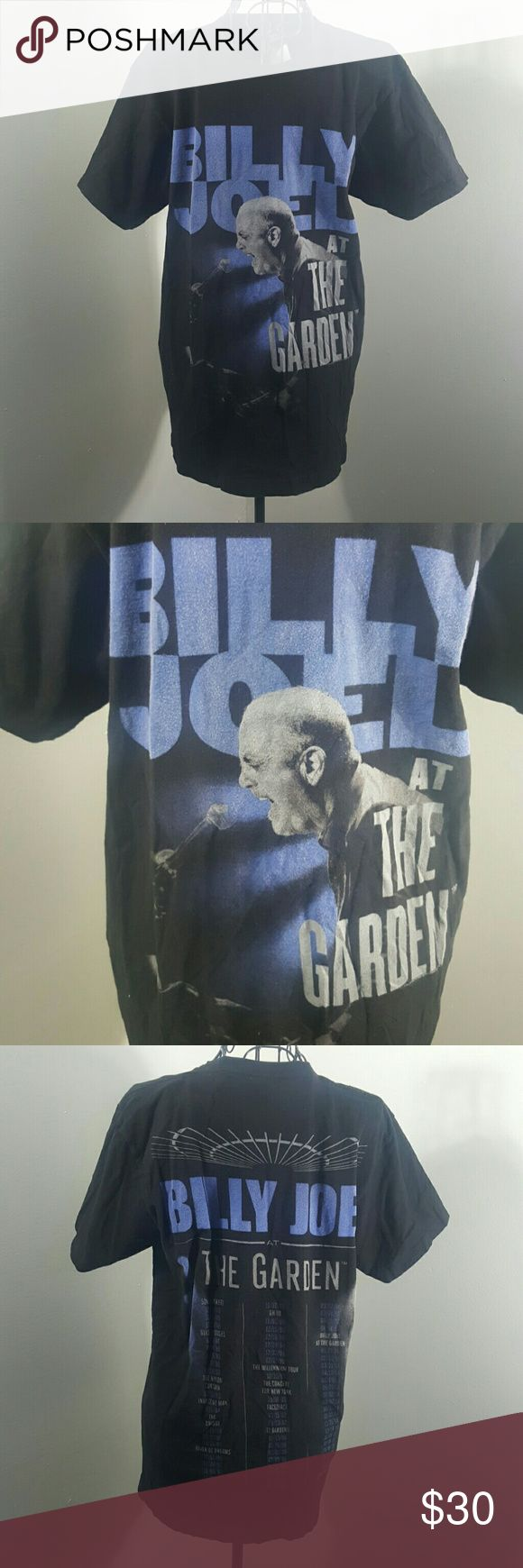 BILLY JOEL CONCERT T SHIRT medium BILLY JOEL VINTAGE  CONCERT T  SHIRT PREOWNED AWESOME SHIRT RARE Vintage Shirts Tees - Short Sleeve