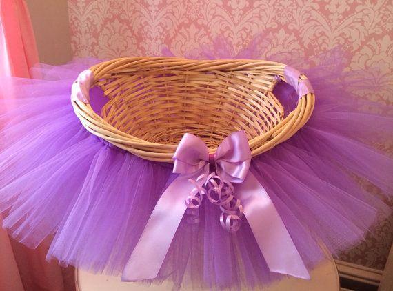 Tutu Basket Tutu Gift Basket Tutu Baby Shower by MissMadelynsBows, $34.00