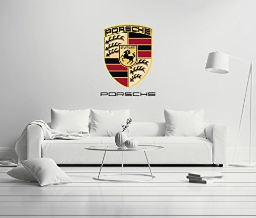 Porsche Luxury Car Mural Wall Decal Sticker Sport Cars For