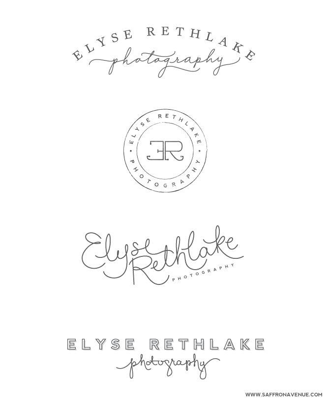 Logo Variations :: Elyse Rethlake Photography #saffronavenue