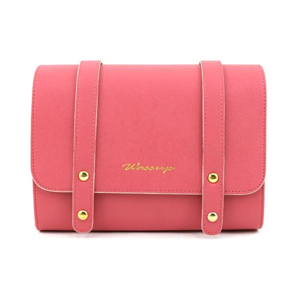 Y1403 Model  Y1403  Condition   New  Brand : Handmade Color : Ivory, Mint, Coral, Hot Pink, Blue, Black Style : Shoulder & Cross Bag Material : Synthetic Leather Size (cm) : 22.5 x 16 x 8.5 Size (inch) : 8.85 x 6.29 x 3.34