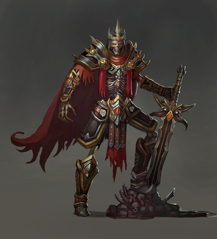 skeleton warrior, concept art, Knight's Fable   Knight's ...  skeleton warrio...