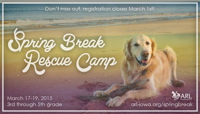 Do you have a little animal lover at home? Here is a great educational opportunity over Spring Break at the Animal Rescue League. - Des Moines Parent