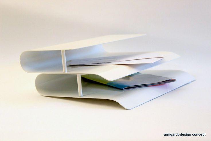 """Papierablage """"P24"""" in weiß von armgardt-design concept auf DaWanda.com"""