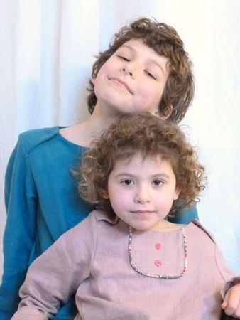 Linen shirts boy and girl