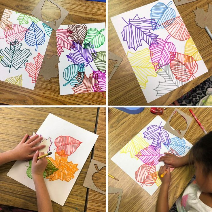 Line Art Project Leaves · Art Projects for Kids