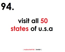 I have already started on my list .. checking off states as I go :)