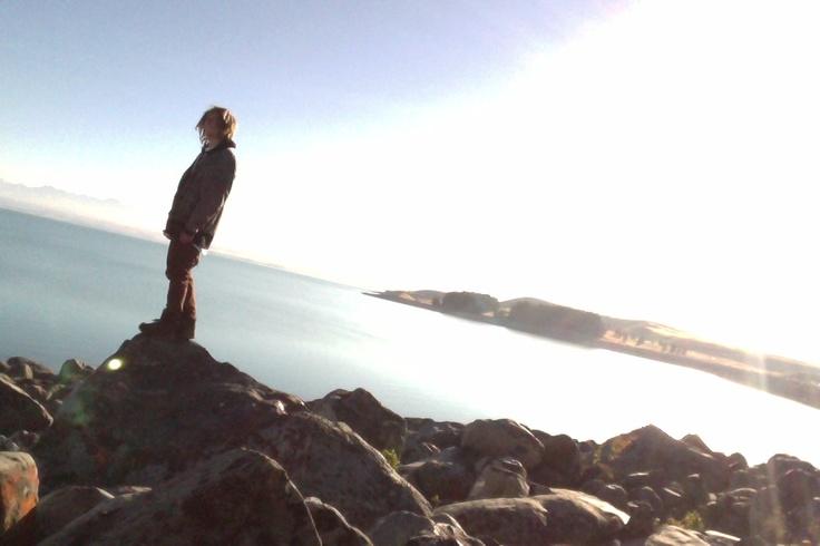 My friend Dano in front of Lake Tekapo #greatwalker