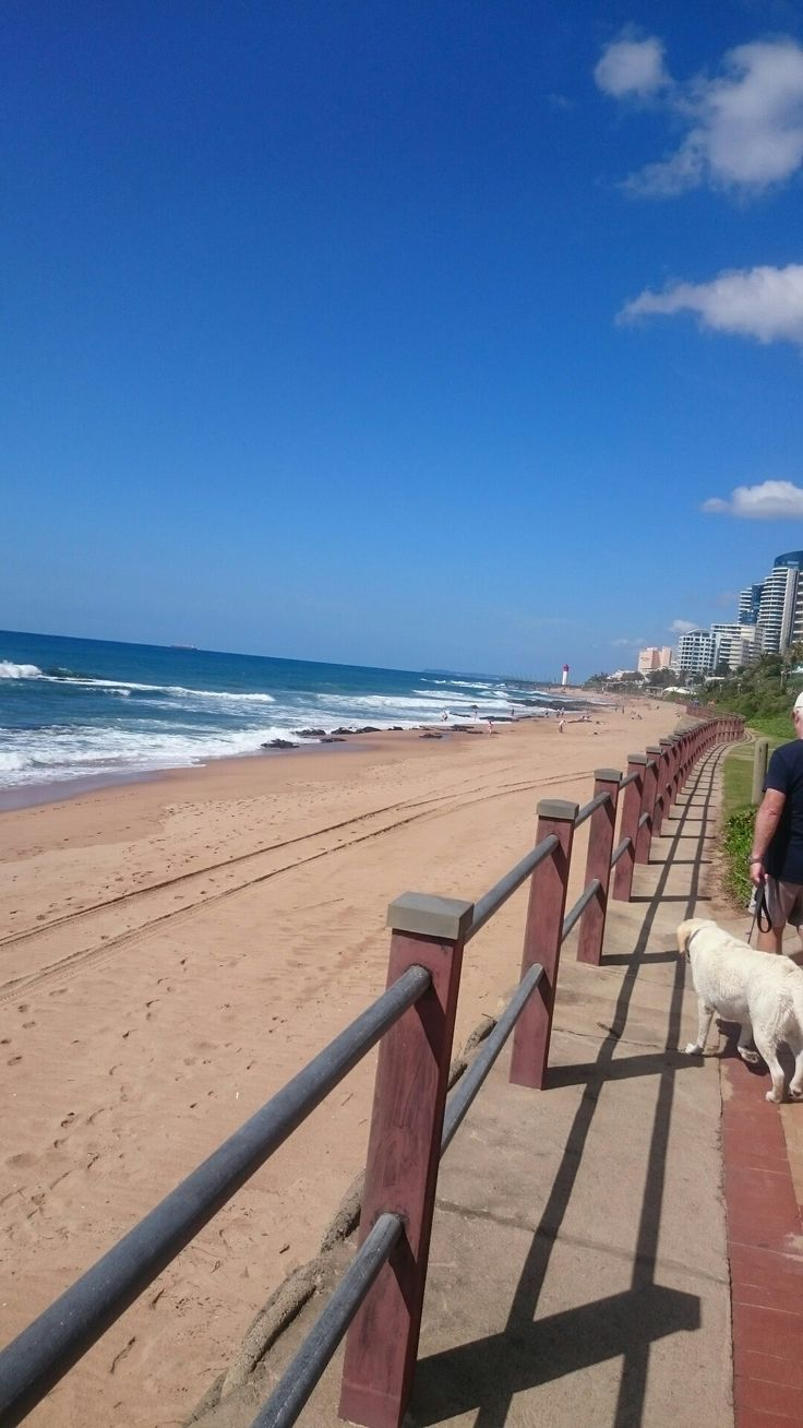 View of maim swim beach from the promenade