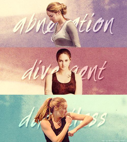 ~Divergent~ ~Insurgent~ ~Allegiant~ Can't wait for the movie, but the book is always better.