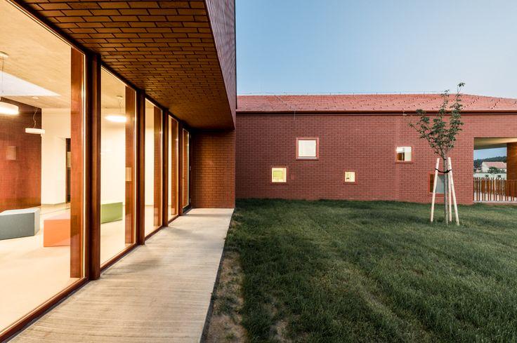Daycare in Nagykovácsi by Földes Architects / #daycare #nursery #bölcsöde #brick #exterior #architecture #glass