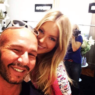 BEHIND THE SCENES WITH JENNIFER HAWKINS WEARING ALEX PERRY 'CORAL' DRESS