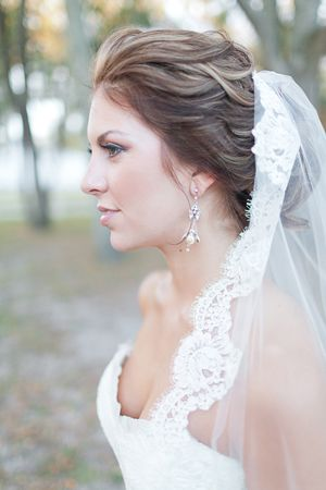lace-edge veil | Andi Mans #wedding