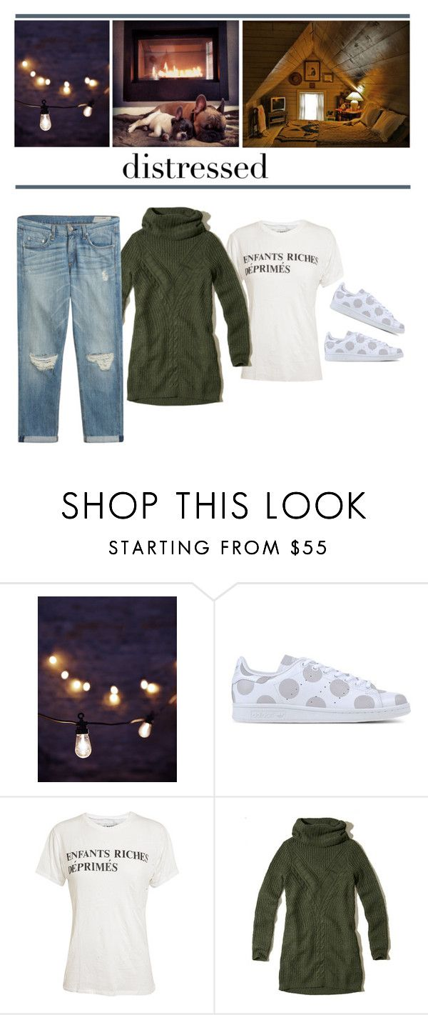 """No stress"" by closertocris ❤ liked on Polyvore featuring adidas Originals, Enfants Riches Déprimés, Hollister Co. and rag & bone"