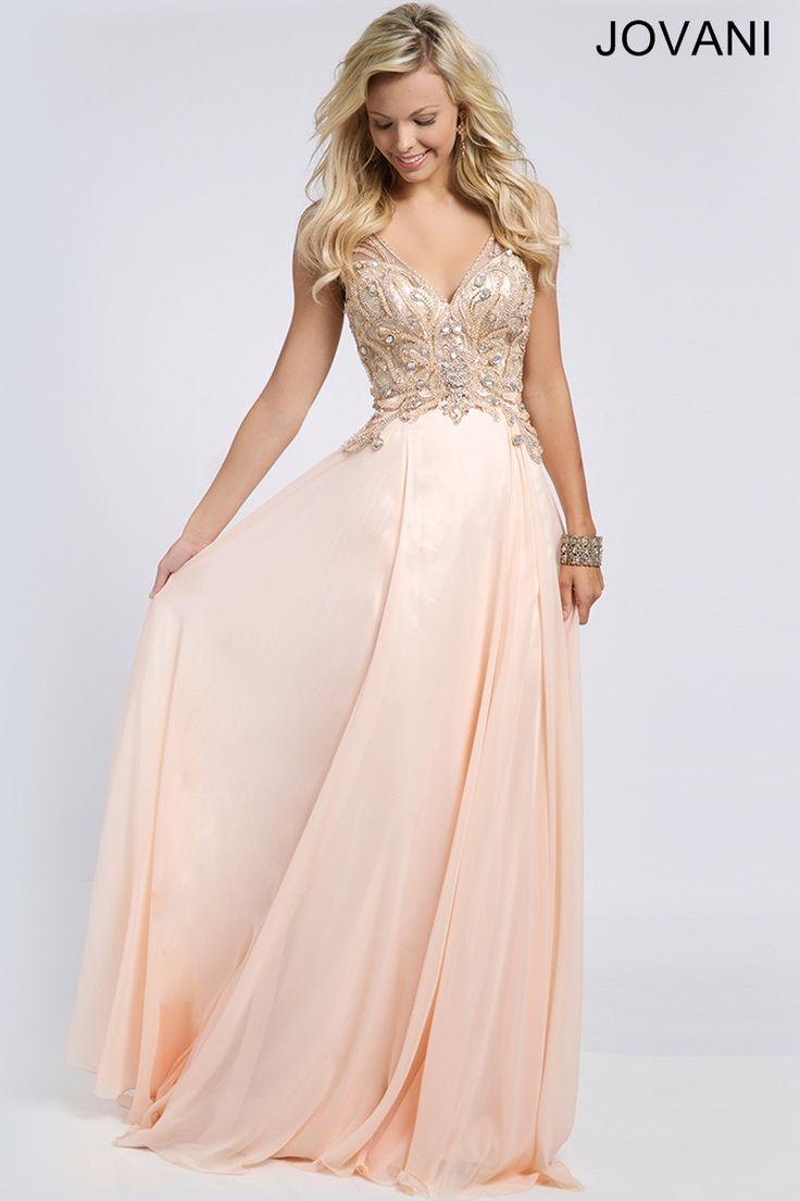 Gorgeous Prom Dress we love this dress - visit http://www.youdeservethis.com for your perfect Prom Photoshoot. Jovani chiffon prom dress with beaded bodice