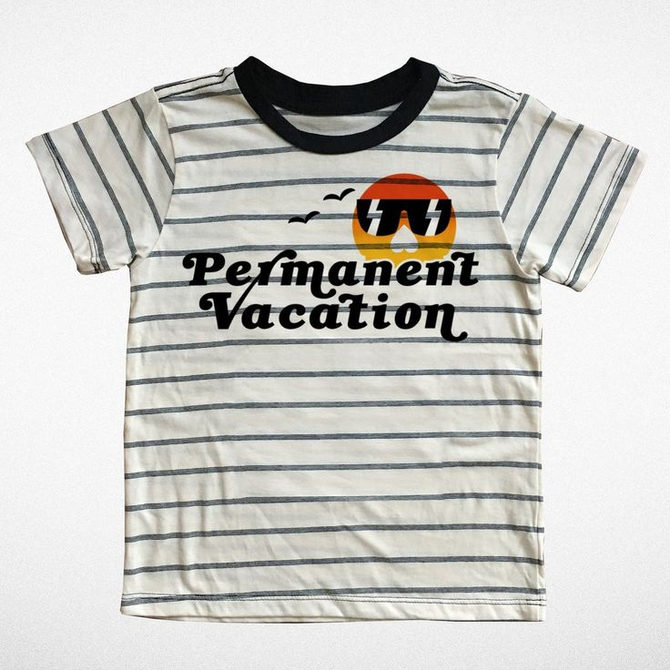 Permanent Vacation Tee — Tiny Whales