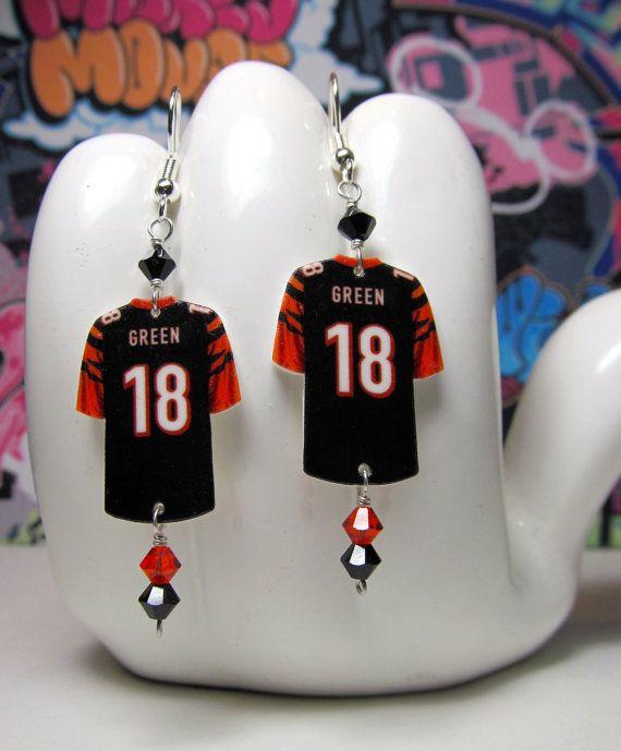 Cincinnati Bengals WR AJ Green Jersey Dangle by HokeyDonut on Etsy, $12.00
