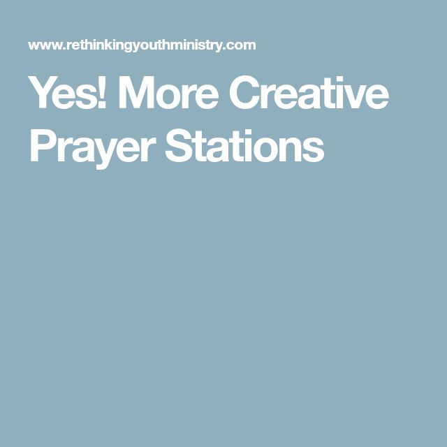 Yes! More Creative Prayer Stations