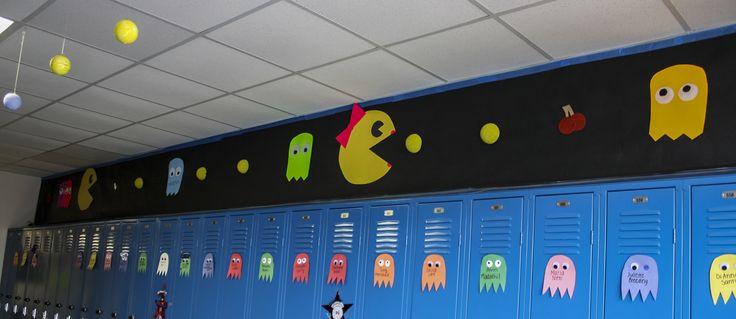 pac man homecoming | Freshmen, during Homecoming Week, decorate their hallway using Pac Man ...