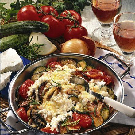 Tomaten-Zucchini-Gemüse mit Feta Rezept