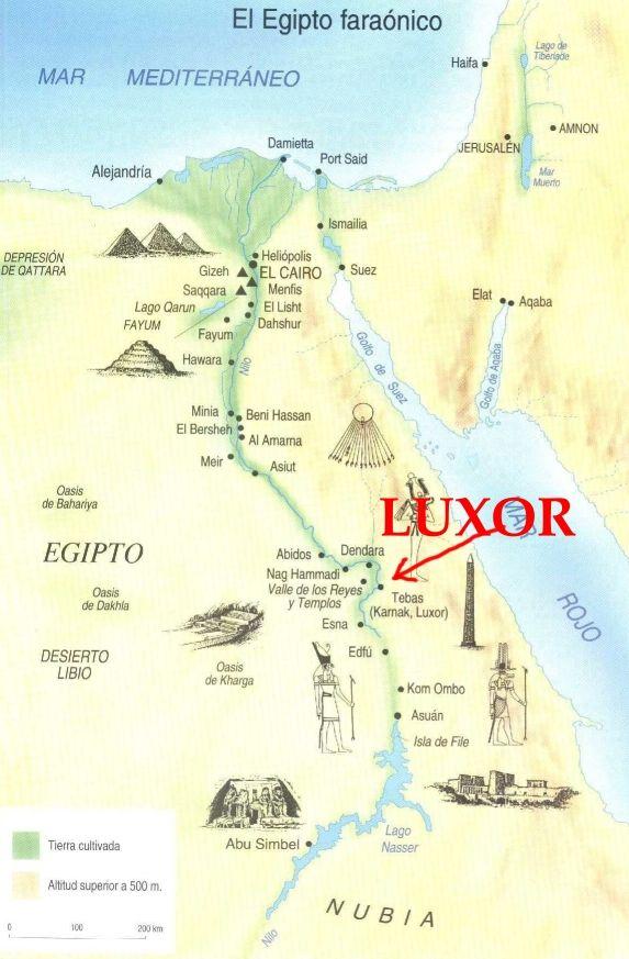 Mapa Del Egipto Faraonico 01 Luxor Egipto Egipto Luxor