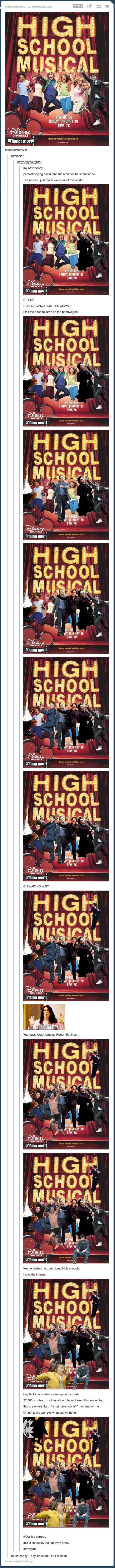 High School Musical just got awesome. What David Tennant in places he shouldn't be started...