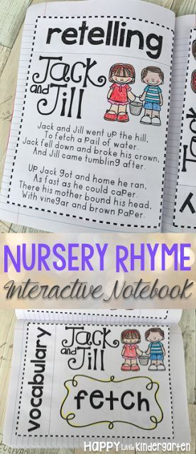 This nursery rhyme interactive notebook reviews comprehension and vocabulary! Made specifically for young learners, this interactive notebook is easy to assemble and includes pictures for beginning readers.