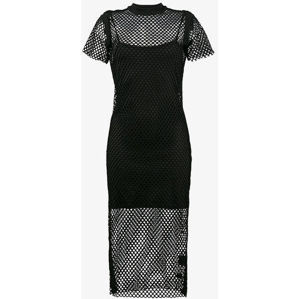 Ksubi Heart Break Hotel Fishnet Dress ($155) ❤ liked on Polyvore featuring dresses, black, fishnet dress, heart dress, heart shaped dress and ksubi