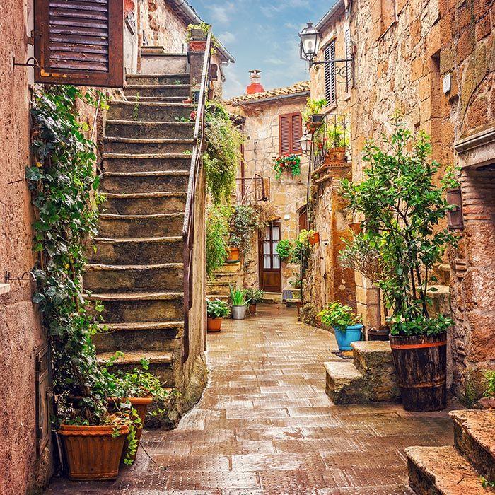 Uliczka w Pitigliano