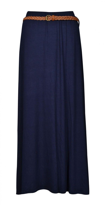 navy jersey maxi skirt - Google Search