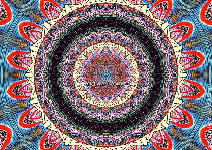 Активная сторона бесконечности - мандала - мандала,медитация,панно в подарок