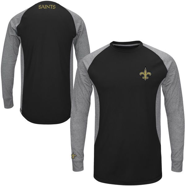 New Orleans Saints Majestic Game Lead Ultra-Lightweight Long Sleeve Fleece – Black - $49.99