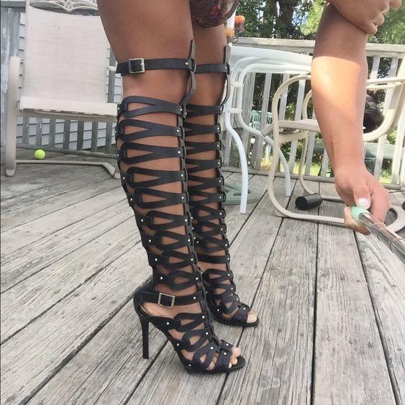 Best 25 Thigh High Gladiator Heels Ideas On Pinterest