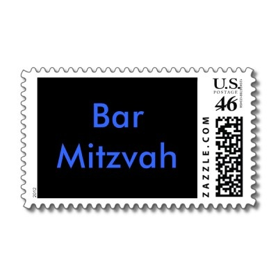 Bar Mitzvah stamps (can get personalized!)