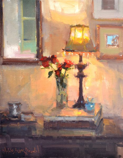 Anne Blair Brown, Shed Some Light, oil, 18 x 14.