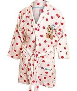 Fizzy Moon Girls White with Red Spots Dressing Gown Sizes 2 3 3 4 5 6 10 12 Yrs | eBay