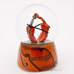 """Стеклянный шар """"Дуэт скрипок"""""""