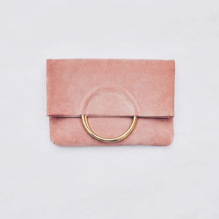 Las Salinas Large Suede Clutch in Ibiza Sunset