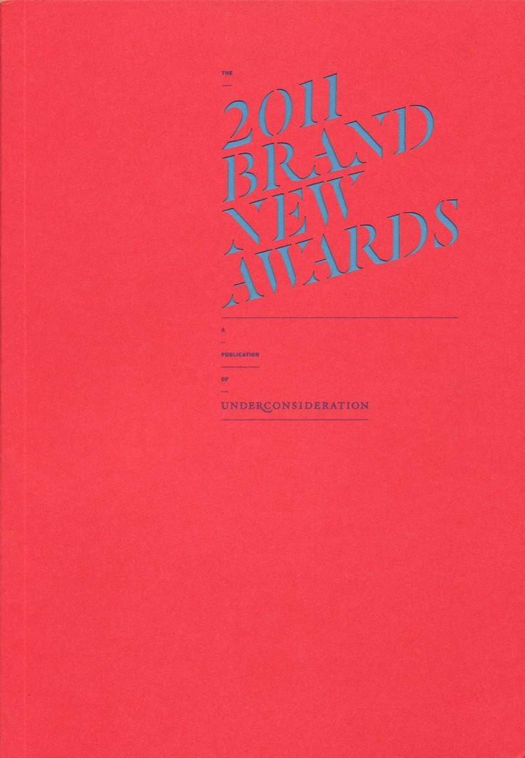 book for The 2011 Brand New Awards / designed by UnderConsideration