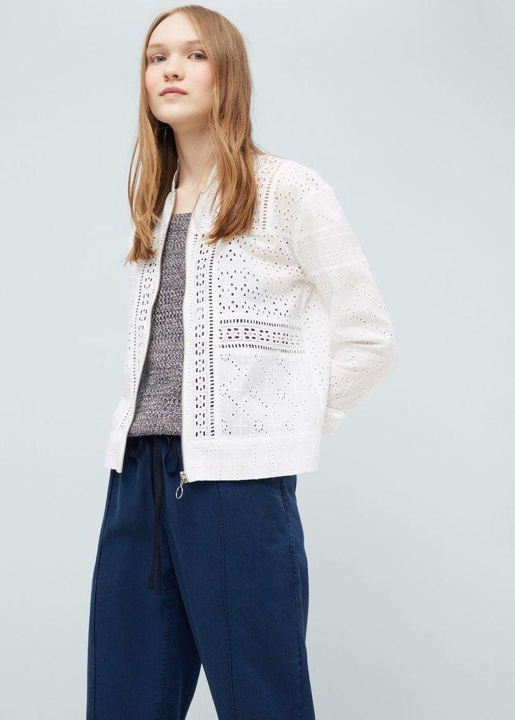 Jacke mit lochmuster-design -  Damen | OUTLET Deutschland